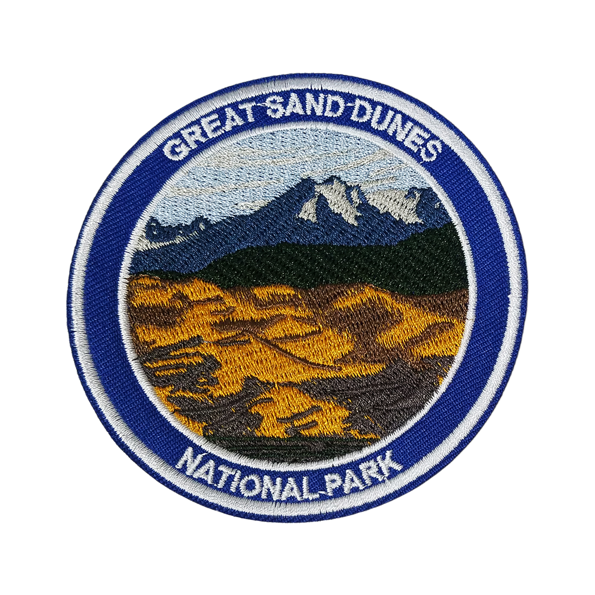 Great Sand Dunes National Park Embroidered Patch Iron//Sew-On Applique Souvenir